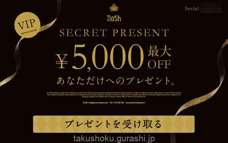 ナッシュ5000円割引クーポン